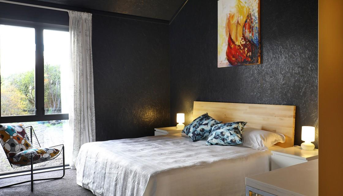 Black house bedroom